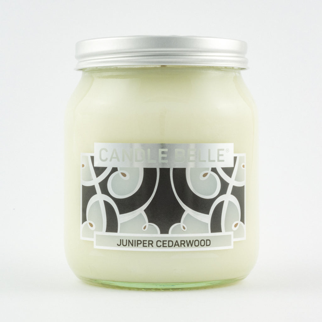 Candle Belle® DECO Juniper Cedarwood Fragranced Single Wick Jar Candle 280g