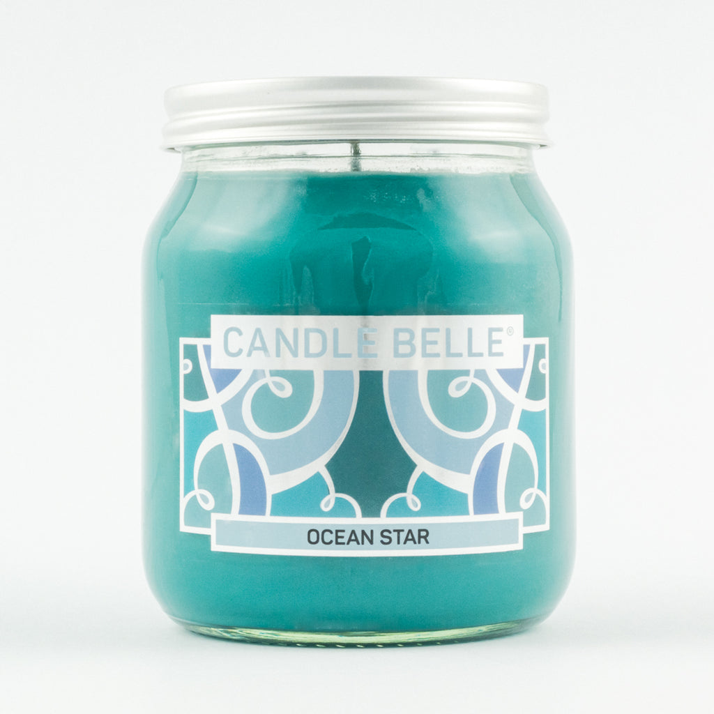 Candle Belle® Ocean Star Fragranced Single Wick Jar Candle 280g