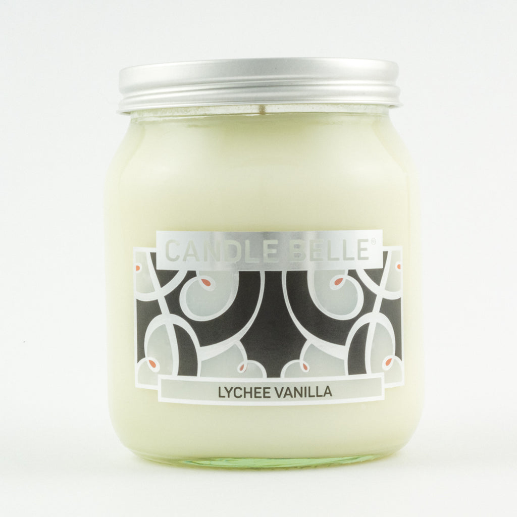 Candle Belle® DECO Lychee Vanilla Fragranced Single Wick Jar Candle 280g