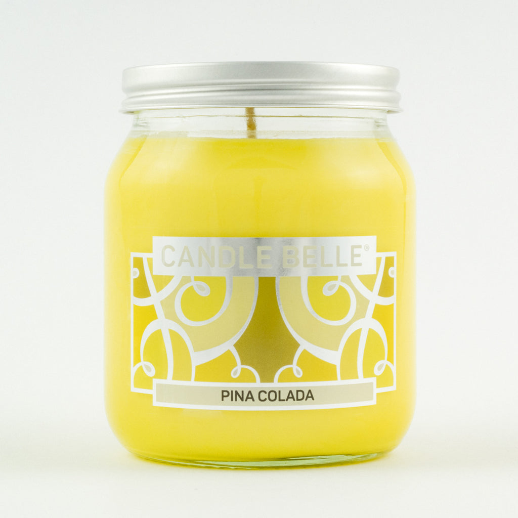 Candle Belle® Pina Colada Fragranced Single Wick Jar Candle 280g