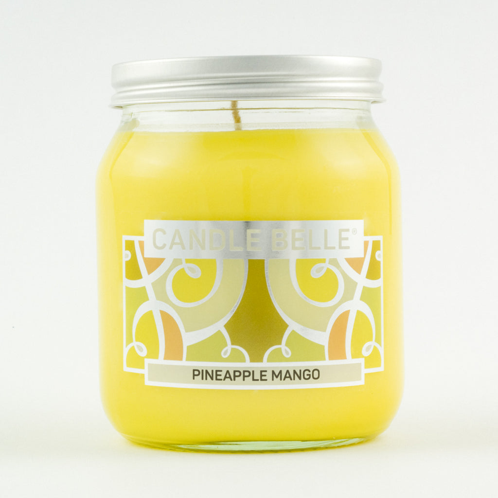 Candle Belle® Pineapple Mango Fragranced Single Wick Jar Candle 280g