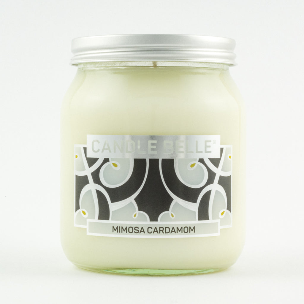 Candle Belle® DECO Mimosa Cardamom Fragranced Single Wick Jar Candle 280g