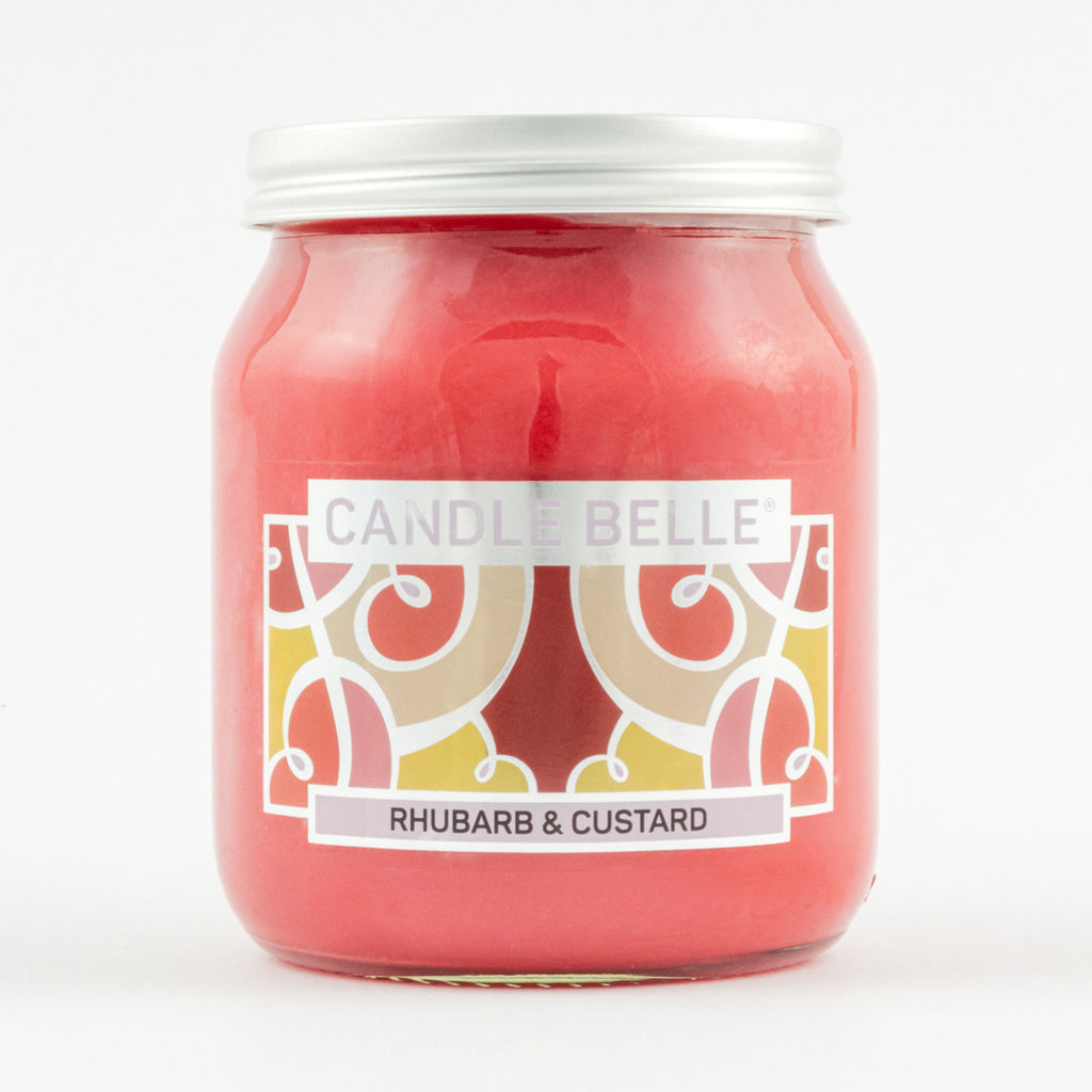 Candle Belle® Rhubarb & Custard Fragranced Single Wick Jar Candle 280g