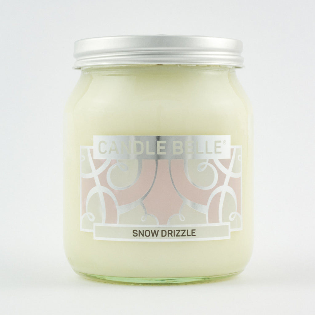 Candle Belle® Snow Drizzle Fragranced Single Wick Jar Candle 280g