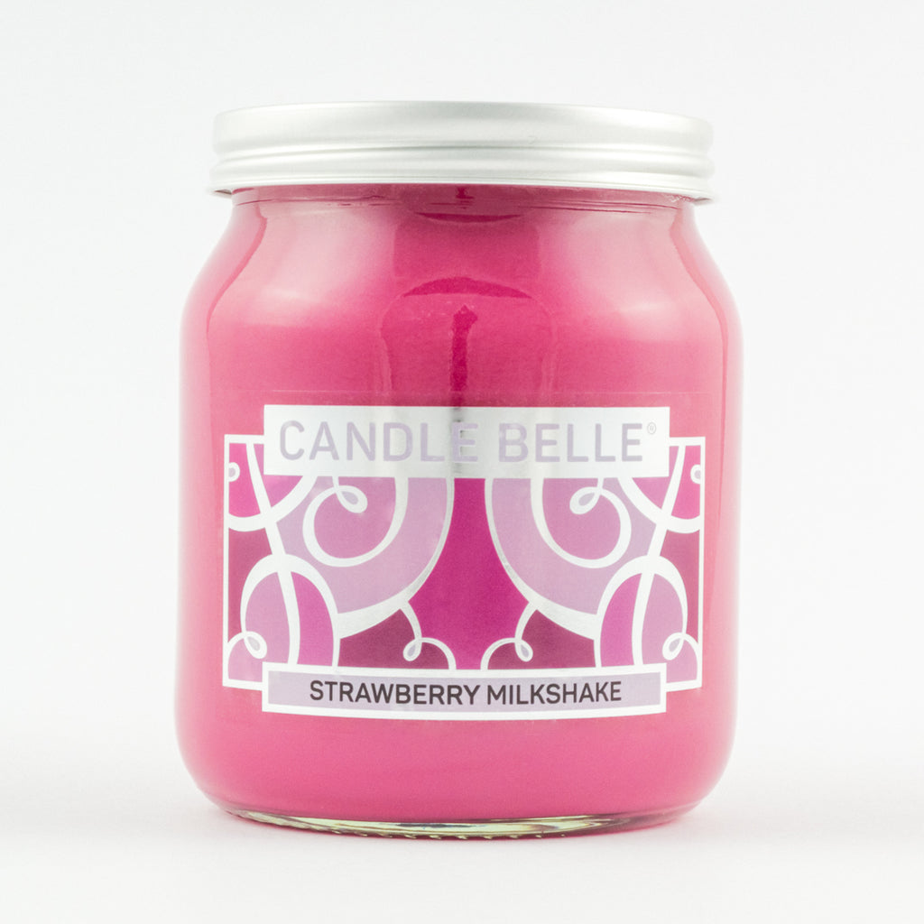 Candle Belle® Strawberry Milkshake Fragranced Single Wick Jar Candle 280g