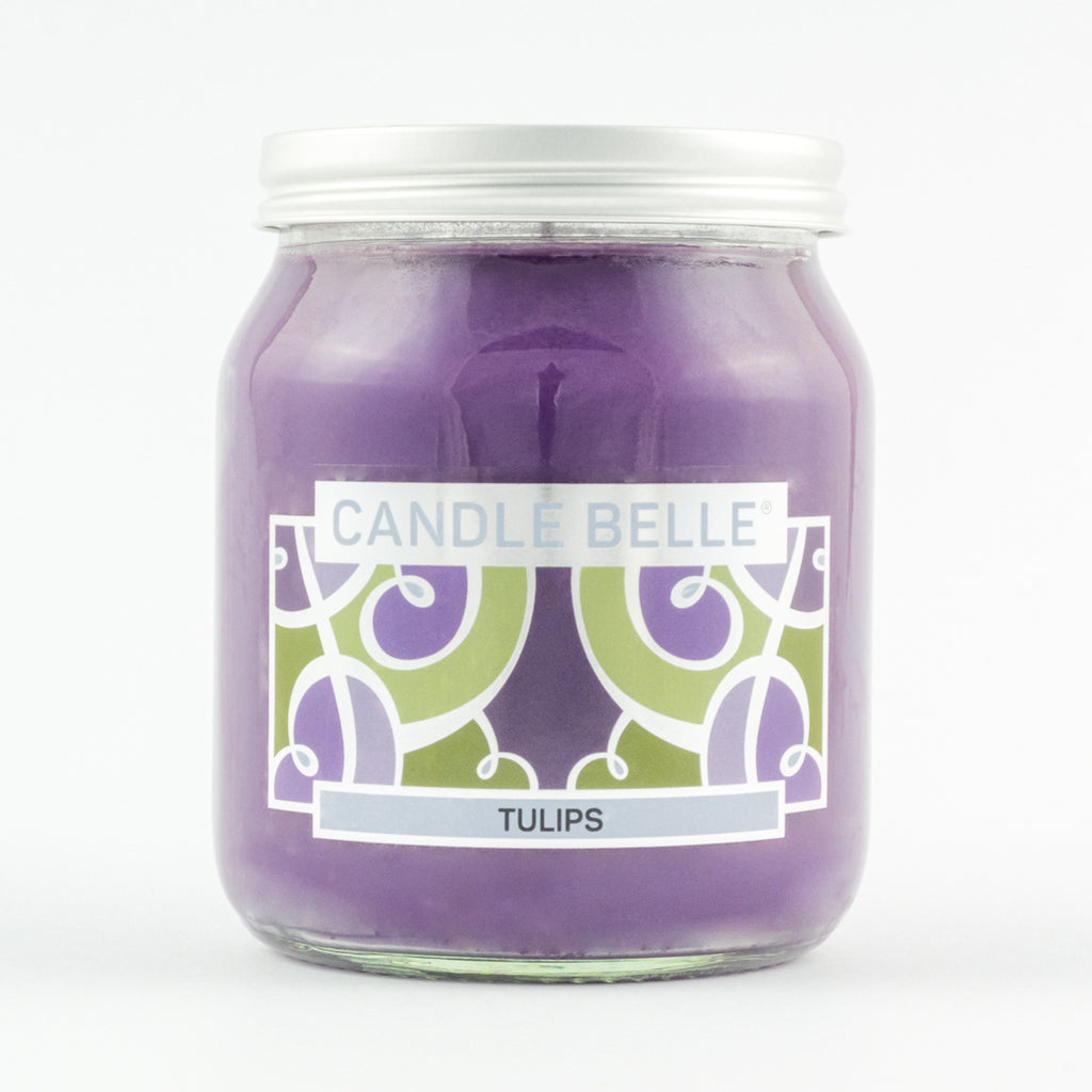 Candle Belle® Tulips Fragranced Single Wick Jar Candle 280g