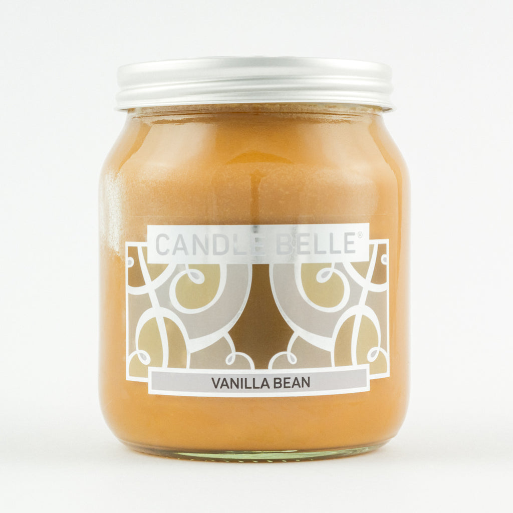 Candle Belle® Vanilla Bean Fragranced Single Wick Jar Candle 280g