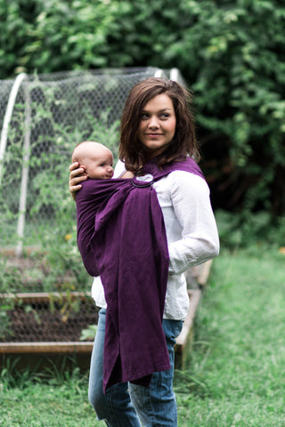 Bibetts Pure Linen Ring Sling - Plum