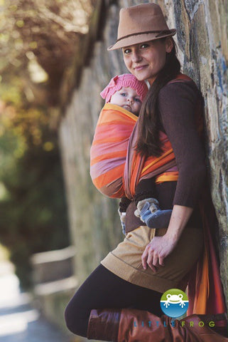 Little Frog Baby Wrap Carrier 'Rhodonite'