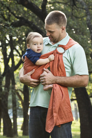 Bibetts Pure Linen Ring Sling - Adobe