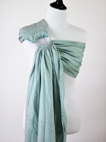 Bibetts Pure Linen Ring Sling - Cool Mint