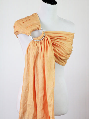 Bibetts Pure Linen Ring Sling - Apricot CLOSEOUT PRICE