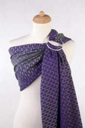 Lenny Lamb 'Icicles Purple & Green' Ring Sling - Gathered Shoulder IN STOCK