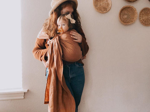 Bibetts Pure Linen Ring Sling - Nutmeg