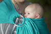 Bibetts Pure Linen Ring Sling - Aqua