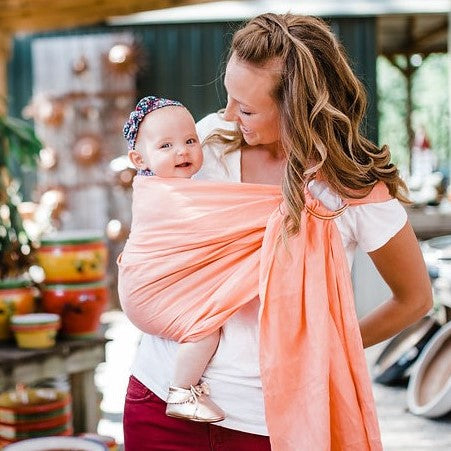 Bibetts Pure Linen Ring Sling - Coral