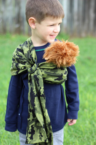 Bibetts Doll Ring Sling 'Green Camo'