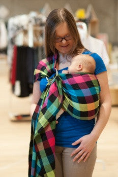 Lenny Lamb 'Diamond Plaid' Ring Sling - Gathered Shoulder IN STOCK