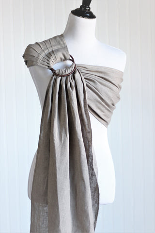 Bibetts Pure Linen Ring Sling - Oatmeal