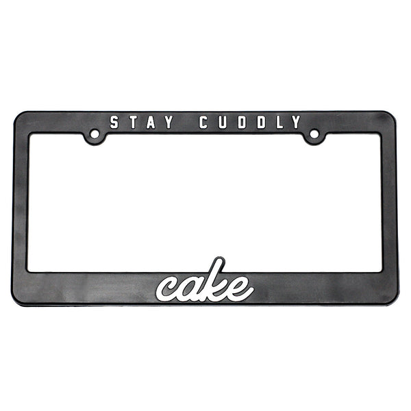 Cake Stay Cuddly License Plate Frame