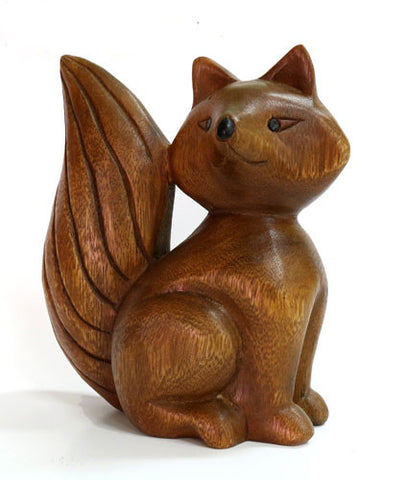 Acacia Wood Fox Carved Ornaments Fair Trade from Thailand