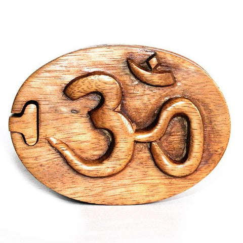 Om Puzzle Box Bali Magic Boxes Hand Carved
