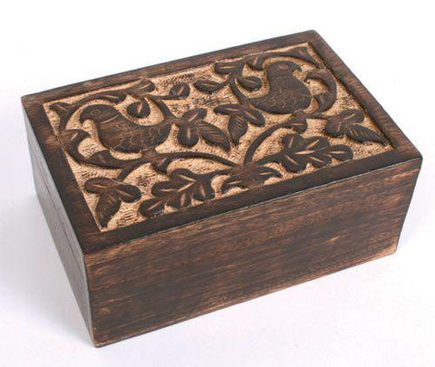 Birds Mango Wood Box Fair Trade Home & Gift from India