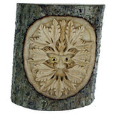 Green Man Carved in Tree Trunk Fair Trade Pagan Gift Idea