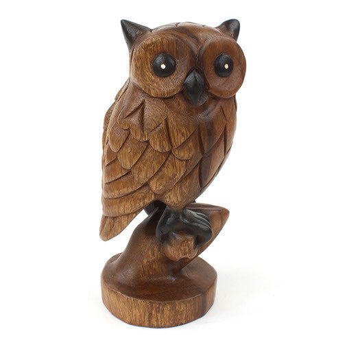 Carved Wooden Owl  - Made in Thailand - Wood Carvings