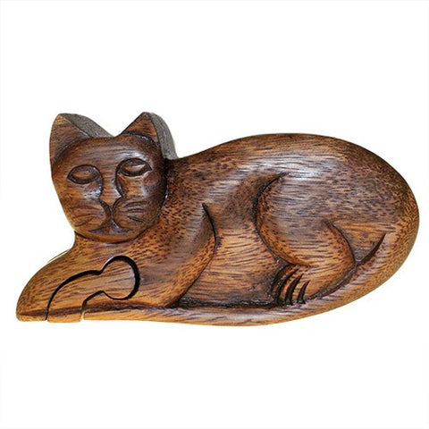 Cat Puzzle Box from Bali Handmade and Ethically Produced