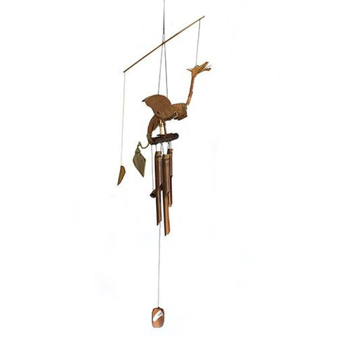 Coconut Dragon Mobile Bamboo Wind Chimes Ethically Sourced