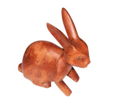 Hand Carved Wooden Rabbit Fair Trade Home & Gift Ideas