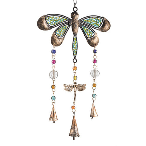 Dragonfly Wind Chime with Beads Fair Trade from India