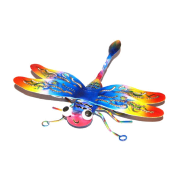Airbrushed Tin Wall Art Dragonfly Fair Trade from Indonesia