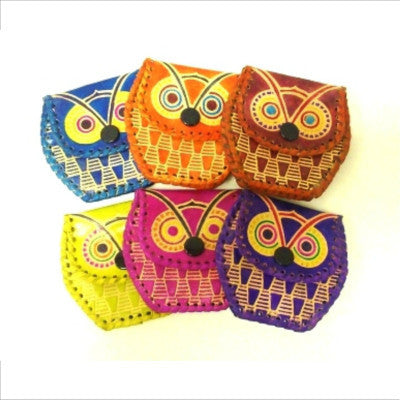 Fair Trade Leather Owl Purses Gifts & Accessories