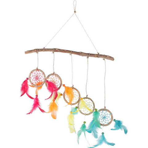 Rainbow of Dreamcatchers on Wood Ethically Sourced from Indonesia