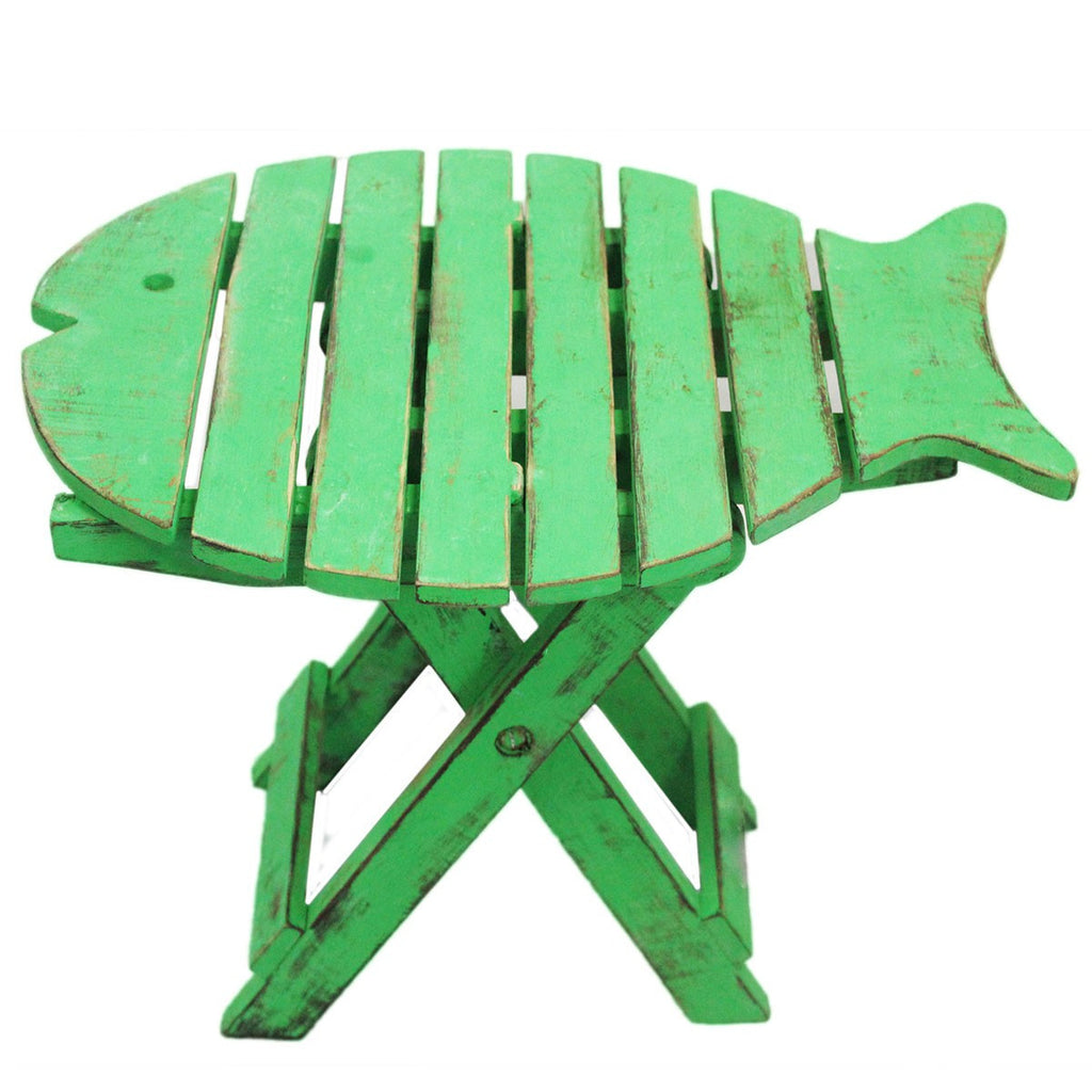 Vibrant Green Fish Stool Ethically Produced Furniture