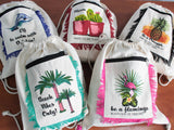 Funky Fringe Cotton Backpacks Assorted Designs Made in India