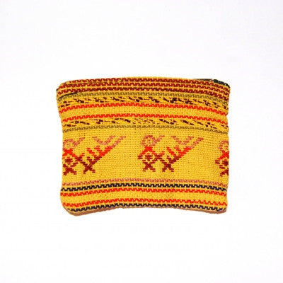 Yellow Patterned Guatemalan Cotton Purse Fair Trade Accessories