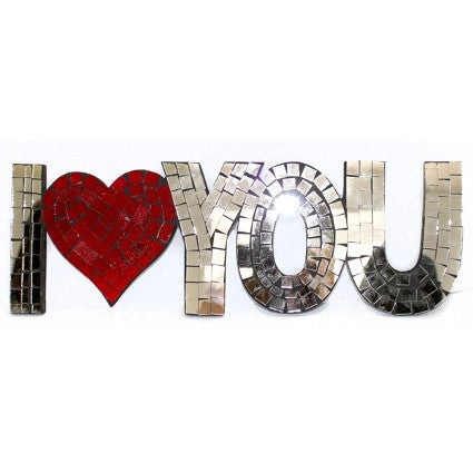 I Love You Wall Art with Heart Great Gift Idea Valentines