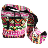 Jacquard Sling Bag Pink Multi Ethnic Fashion from India