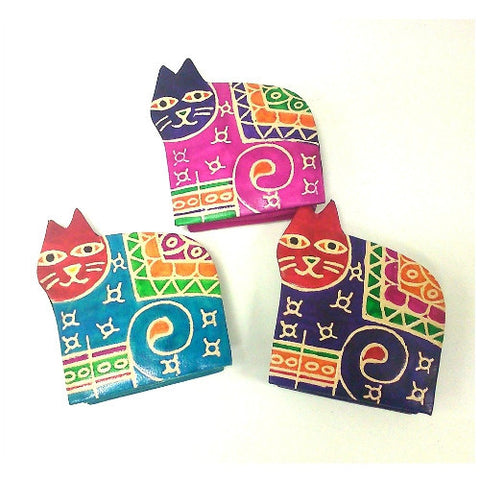 Colourful Leather Cat Purses Fair Trade Accessories