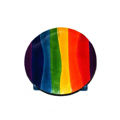 Rainbow Leather Coin Purse from India Fair Trade Accessories