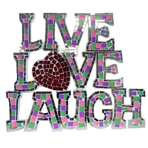 Live Love Laugh Mosaic Wall Art Home Accessories