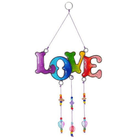 Love Suncatcher with Beads Ethically Traded Home & Gift Idea