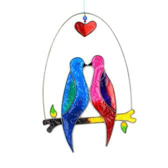 Lovebirds Suncatchers Fair Trade Love Birds