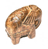 Indian Elephant Mango Wood Carving Fair Trade Ornaments