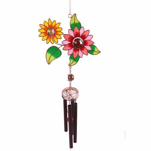 Flowers Metal Wind Chime Ethically Produced Home & Gift