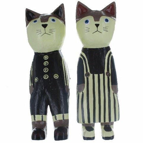 Mr & Mrs Cat Shelf Sitter Ornaments Fairly Traded Home & Gift
