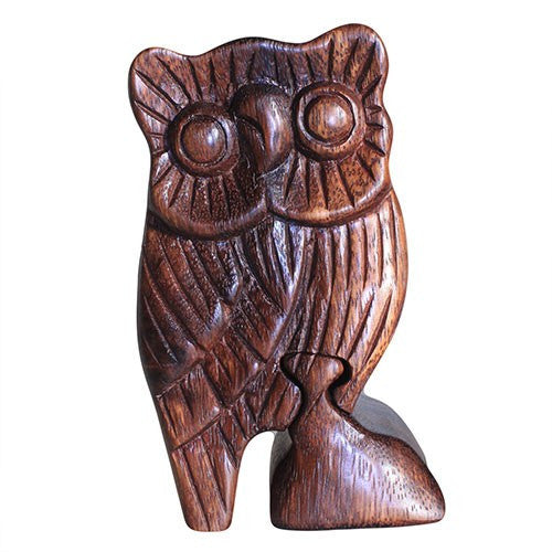 Owl Puzzle Box Hand Carved in Bali